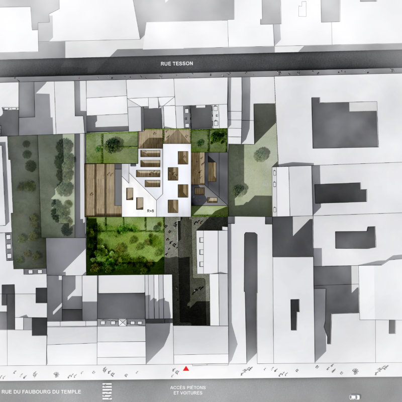 GCG architectes / Faubourg du Temple / Plan
